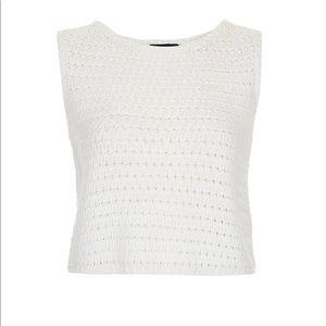 TOPSHOP White Knit/Crochet Top